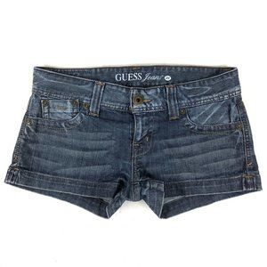 Guess Jeans Denim Shorts Womens Size 28 Blue Jean